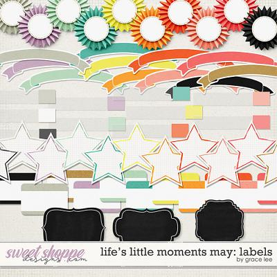 Life's Little Moments May Labels by Grace Lee