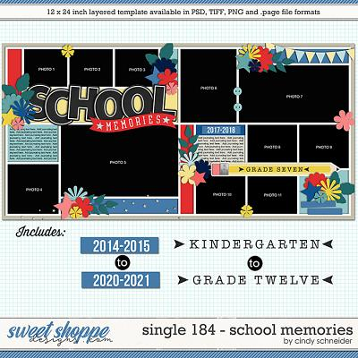 Cindy's Layered Templates - Single 184: School Memories by Cindy Schneider