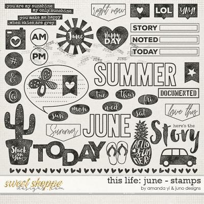 This Life: June - Stamps by Amanda Yi & Juno Designs