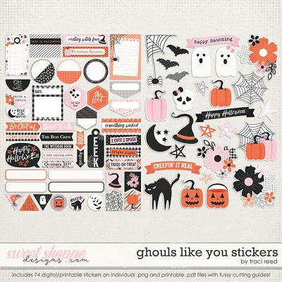 Ghouls Like You: Stickers by Traci Reed
