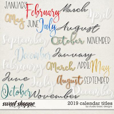 2019 Calendar Titles by Studio Basic