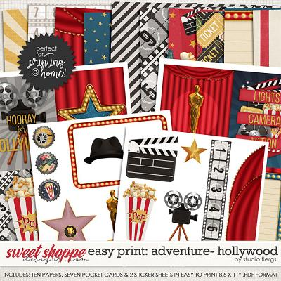 Adventure: HOLLYWOOD- EZ PRINT by Studio Flergs