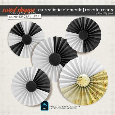 CU REALISTIC ELEMENTS | ROSETTE READY by The Nifty Pixel