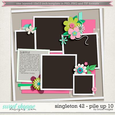 Brook's Templates - Singleton 42 - Pile Up 10 by Brook Magee