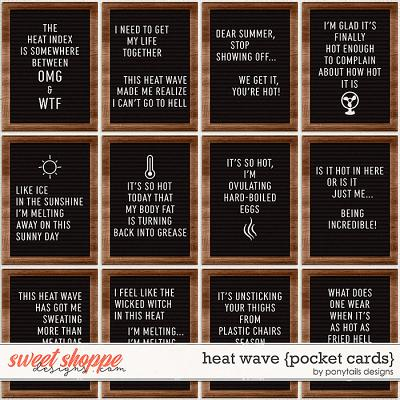 Heat Wave Pocket Cards by Ponytails