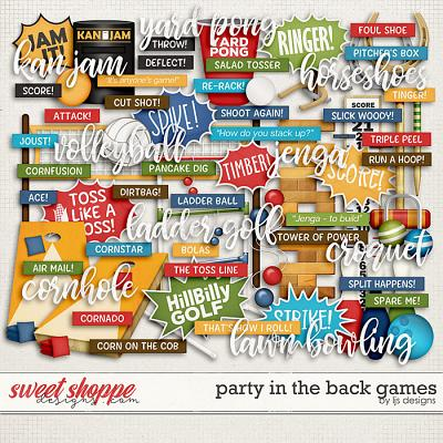 Party In The Back Games by LJS Designs