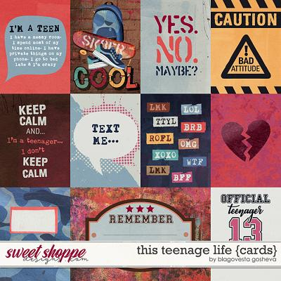 This Teenage Life {cards} by Blagovesta Gosheva