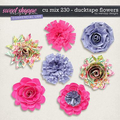 CU Mix 230 - Ducktape flowers by WendyP Designs