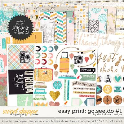 Go.See.Do Easy Print Pack #1 by Studio Basic