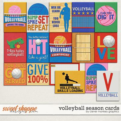 Volleyball Season Cards by Clever Monkey Graphics