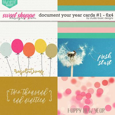 Document Your Year Cards #1 - 6x4 by Studio Basic