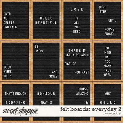Felt Boards: Everyday 2 by Amanda Yi