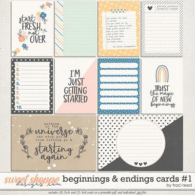 Beginnings & Endings Journal Cards #1 by Traci Reed