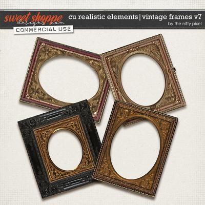 CU REALISTIC ELEMENTS | VINTAGE FRAMES Vol.7 by The Nifty Pixel