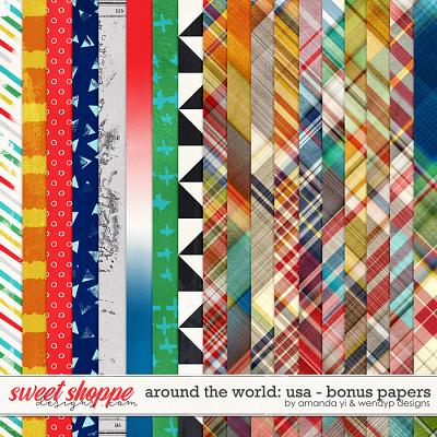 Around the world: USA - bonus papers by Amanda Yi and WendyP Designs