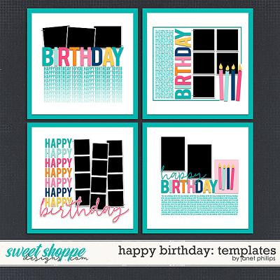 Happy Birthday: Templates by Janet Phillips