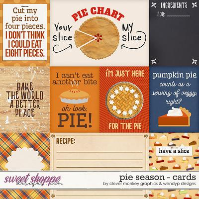 Pie Season Cards by Clever Monkey Graphics and WendyP Designs