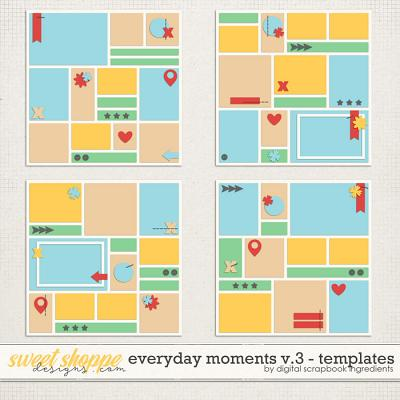 Everyday Moments Templates Vol.3 by Digital Scrapbook Ingredients