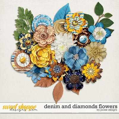 Denim and Diamonds Flowers by JoCee Designs