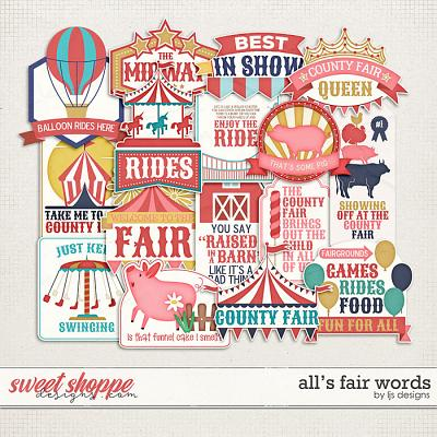 All's Fair Words by LJS Designs