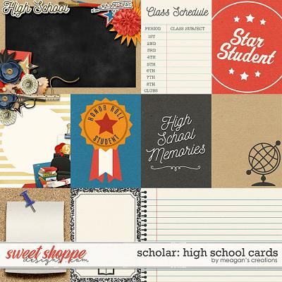 Scholar: High School Cards by Meagan's Creations