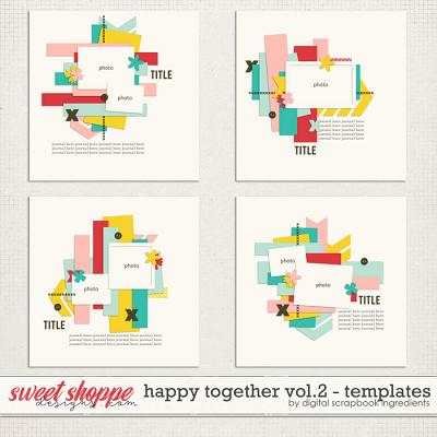 Happy Together Templates Vol.2 by Digital Scrapbook Ingredients