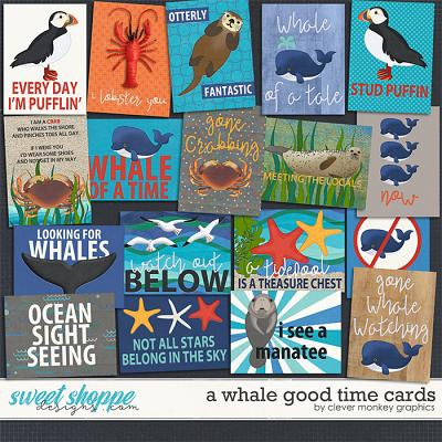 A Whale Good Time Cards by Clever Monkey Graphics