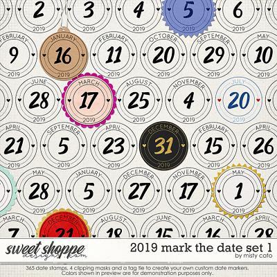 2019 Mark the Date Set 1 by Misty Cato