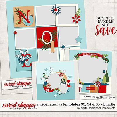 Miscellaneous 33, 34 & 35 Template Bundle by Digital Scrapbook Ingredients