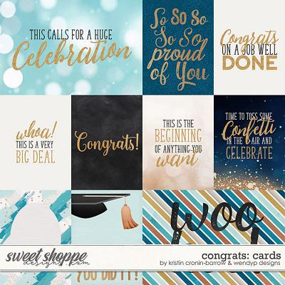 Congrats - Cards by Kristin Cronin-Barrow & WendyP Designs