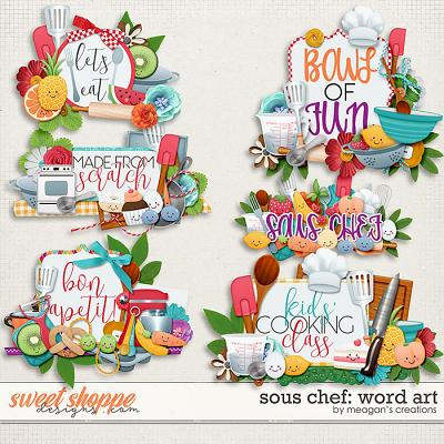 Sous Chef: Word Art by Meagan's Creations
