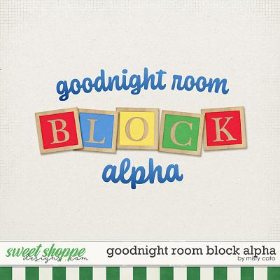 Goodnight Room Block Alpha by Misty Cato