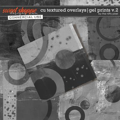 CU TEXTURED OVERLAYS | GEL PRINTS V.2 by The Nifty Pixel