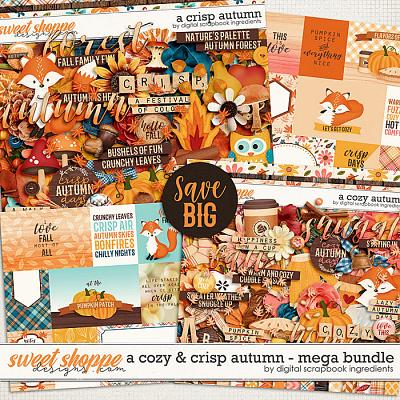 A Cozy and Crisp Autumn Mega Bundle by Digital Scrapbook Ingredients