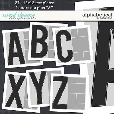 Alphabetical Templates by Erica Zane