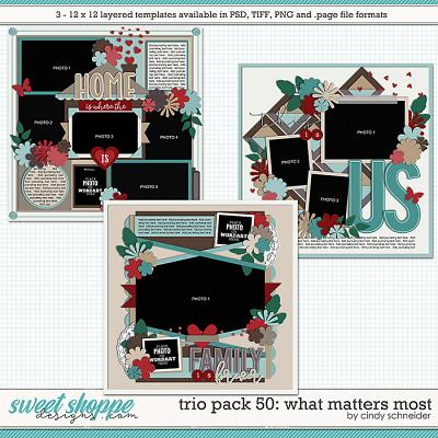 Cindy's Layered Templates - Trio Pack 50: What Matters Most by Cindy Schneider