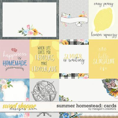 Summer Homestead: Cards by Meagan's Creations