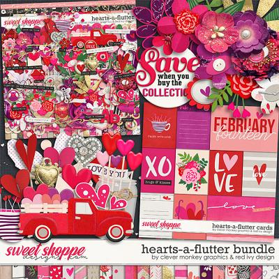 Hearts-a-flutter Bundle by Clever Monkey Graphics & Red Ivy Design