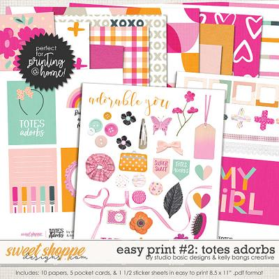 Easy Print: Totes Adorbs #2 by Kelly Bangs Creative and Studio Basic