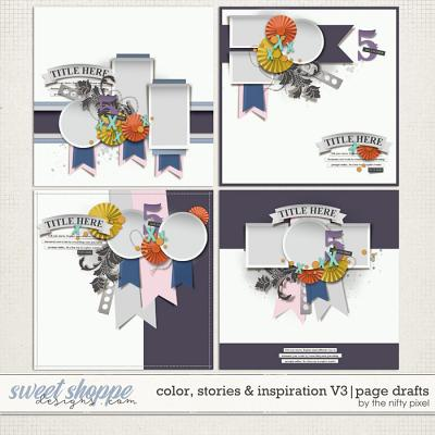 COLOR, STORIES & INSPIRATION V.3 | PAGE DRAFTS by The Nifty Pixel