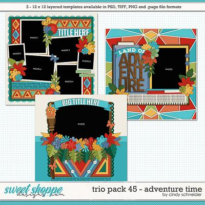 Cindy's Layered Templates - Trio Pack 45: Adventure Time by Cindy Schneider