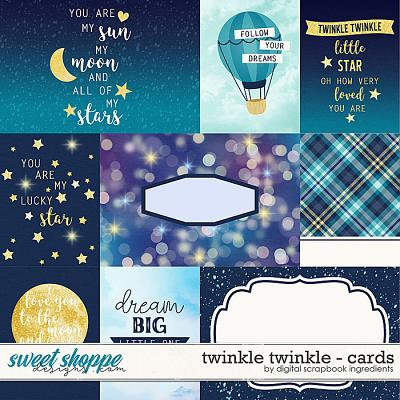 Twinkle Twinkle | Cards by Digital Scrapbook Ingredients