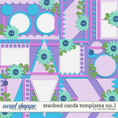 Stacked cards templates no.1 by WendyP Designs