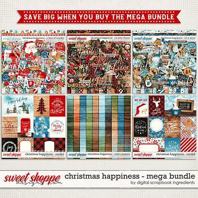 Christmas Happiness Mega Bundle by Digital Scrapbook Ingredients