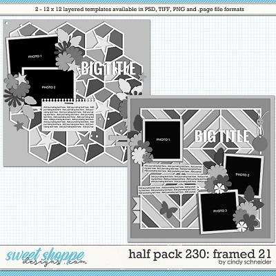 Cindy's Layerd Templates - Half Pack 230: Framed 21 by Cindy Schneider