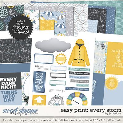 Easy Print: Every Storm by LJS Designs