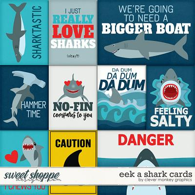 Eek a Shark Cards by Clever Monkey Graphics