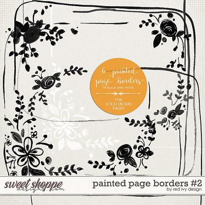 Painted Page Borders #2 by Red Ivy Design