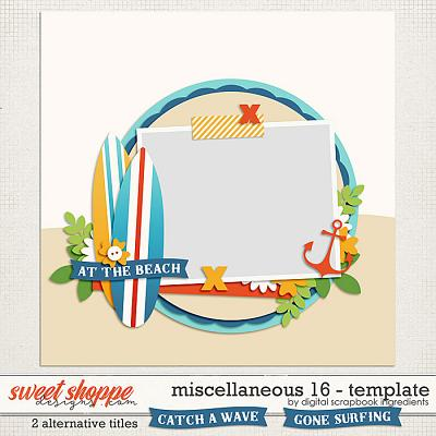 Miscellaneous 16 Template by Digital Scrapbook Ingredients