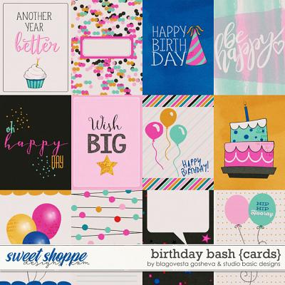 Birthday Bash Cards by Blagovesta Gosheva and Studio Basic